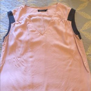 Grey and pink work Blouse